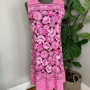 Denim&Co. Pink Floral Pattern Dress 1X